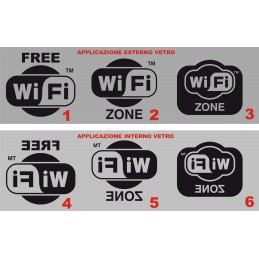 Wi Fi FREE misure cm. 10x9