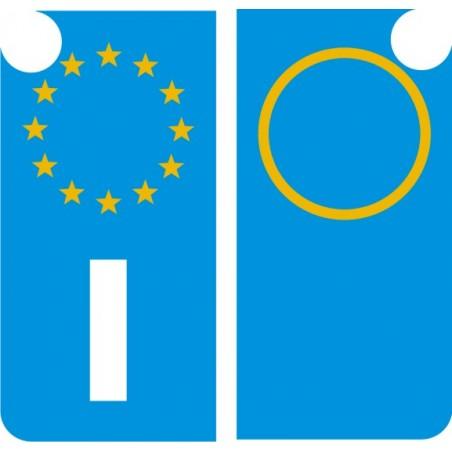 Coppia o Singole Bande Laterali EUROPA per Targa Moto