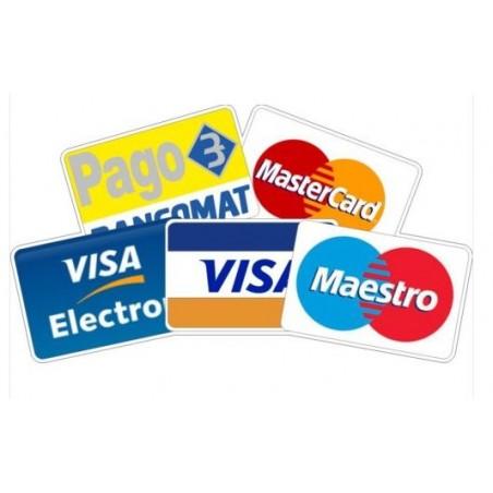 Adesivo Pago Bancomat Visa Electron Master card Maestro Vetrine
