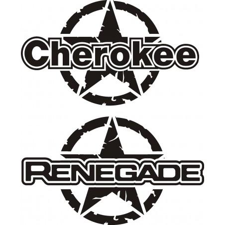 Adesivi Laterali Jeep 4x4 RENEGADE  - CHEROKEE