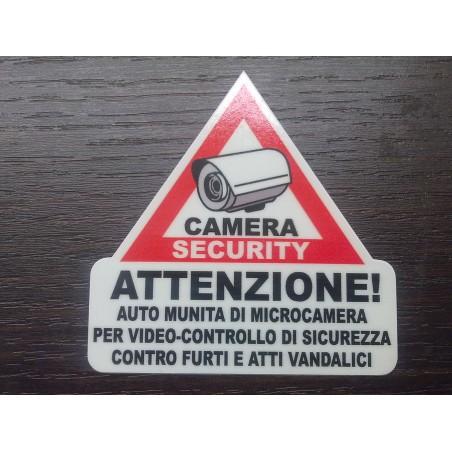 Adesivi Triangolari Auto videosorvegliata con telecamera interno vetro