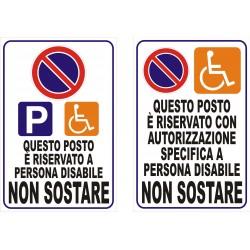 Divieto Sosta per disabili...
