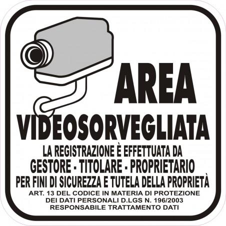 Adesivo VideoSorveglianza Custodia Video