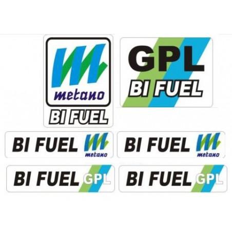 6 ADESIVI x Impianto gas metano o Gpl